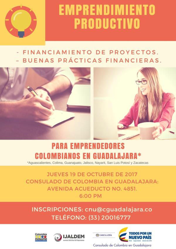 Emprendimiento Productivo Taller Para Emprendedores Colombianos En Guadalajara Colombianosune